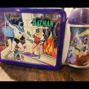 factory sealed Batman and robin numbered lunch box